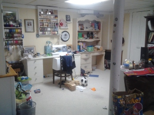 sewing room before 1